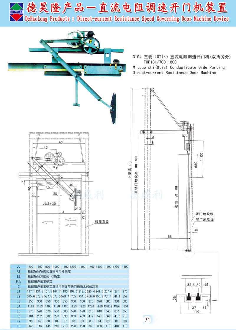 直流电阻调速开门机装置